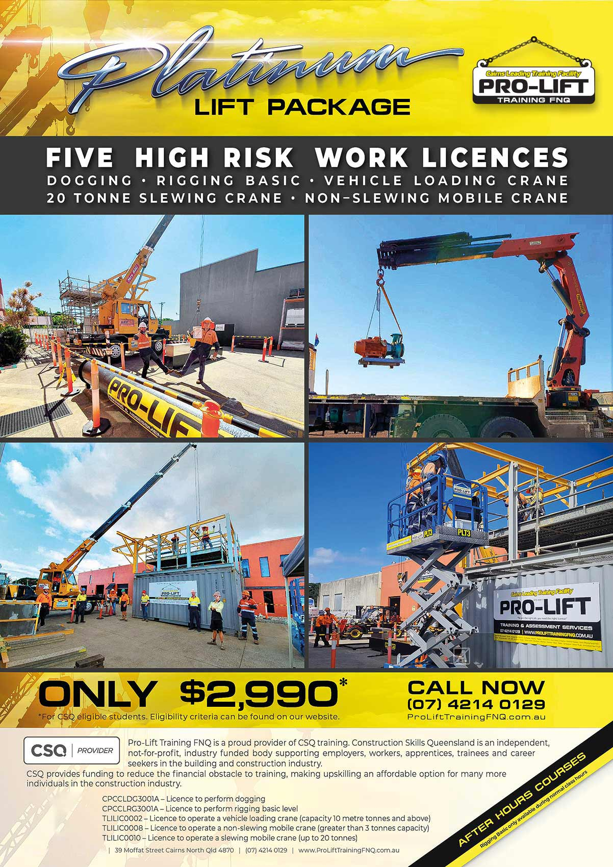 Learn to Use Cranes Get Crane Tickets Dogging Rigging